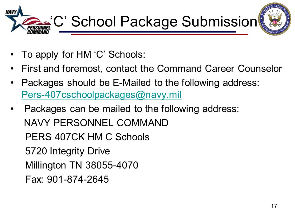 'C' School Package Submission