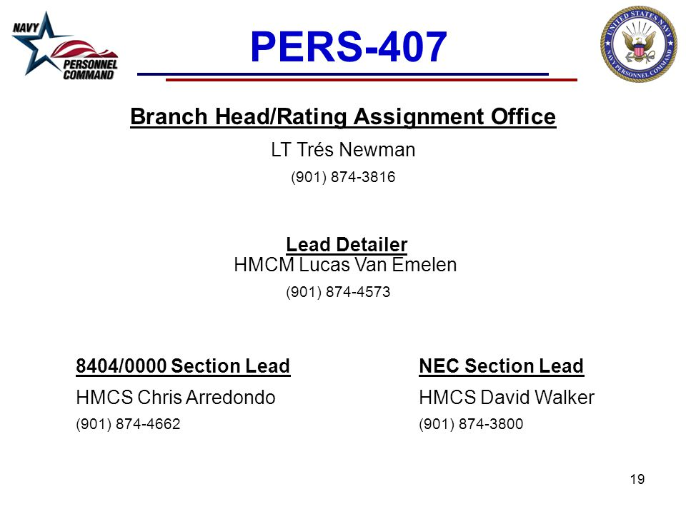 Branch Head/Rating Assignment Office