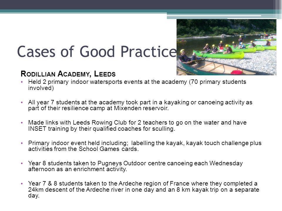 Cases of Good Practice Rodillian Academy, Leeds