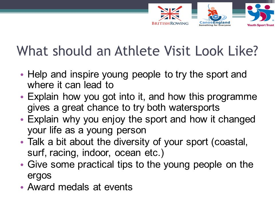 What should an Athlete Visit Look Like
