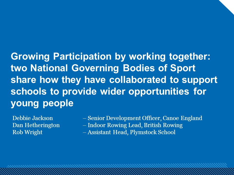 Growing Participation by working together: two National Governing Bodies of Sport share how they have collaborated to support schools to provide wider opportunities for young people