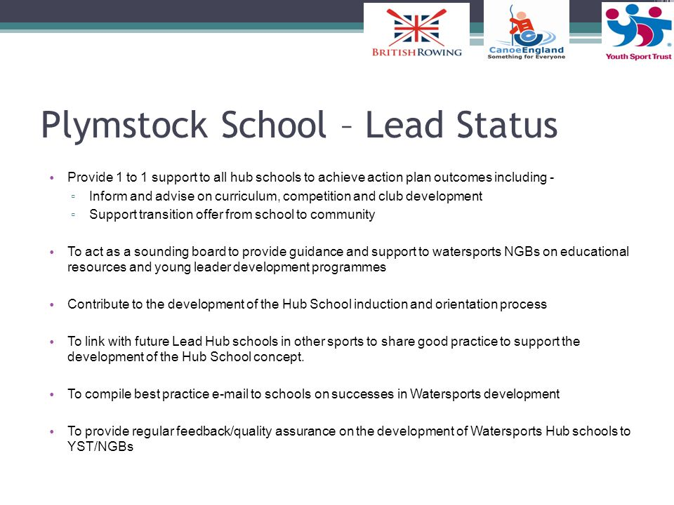 Plymstock School – Lead Status
