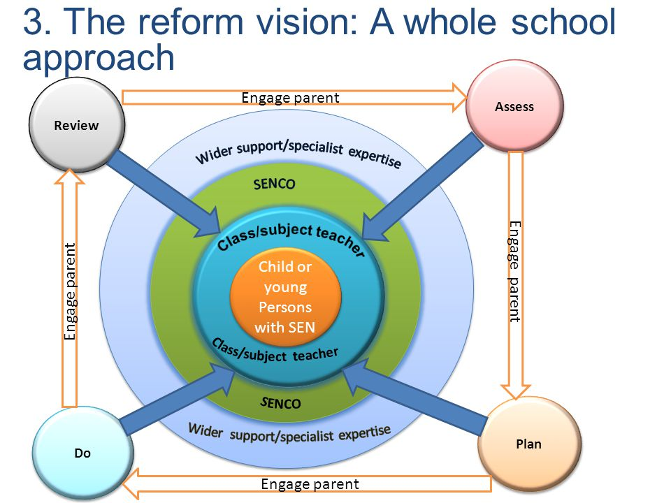 3. The reform vision: A whole school approach