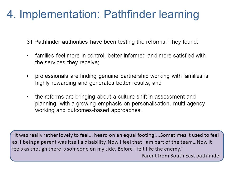 4. Implementation: Pathfinder learning