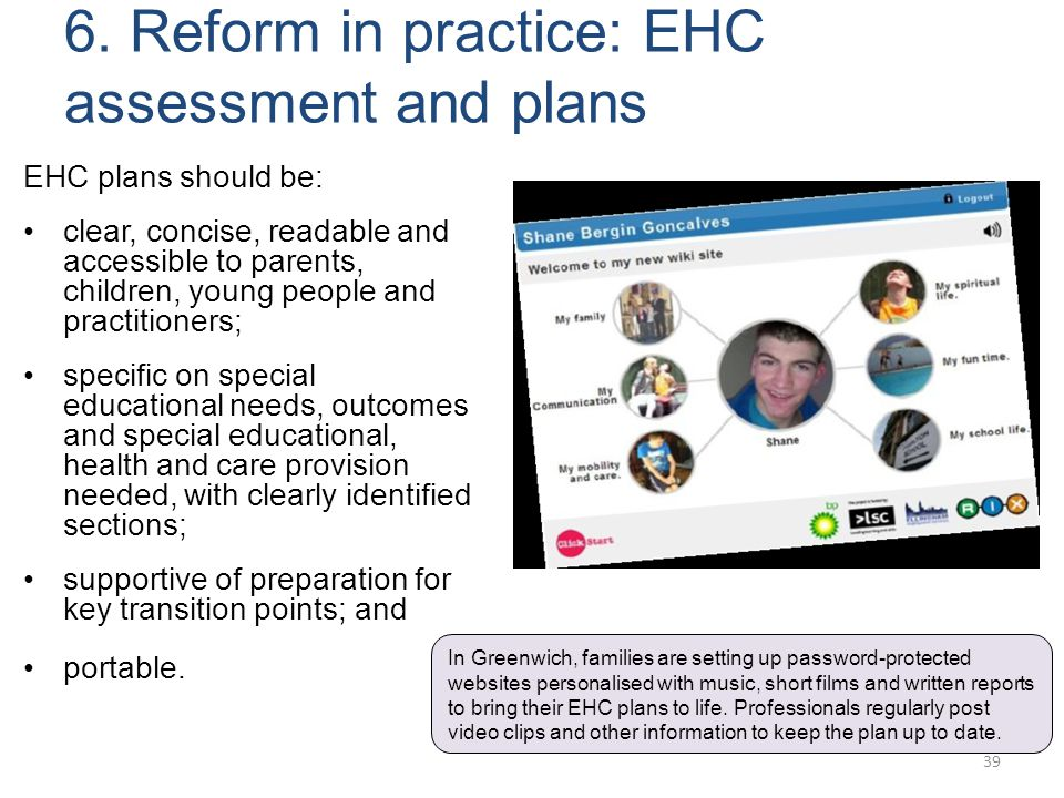 6. Reform in practice: EHC assessment and plans