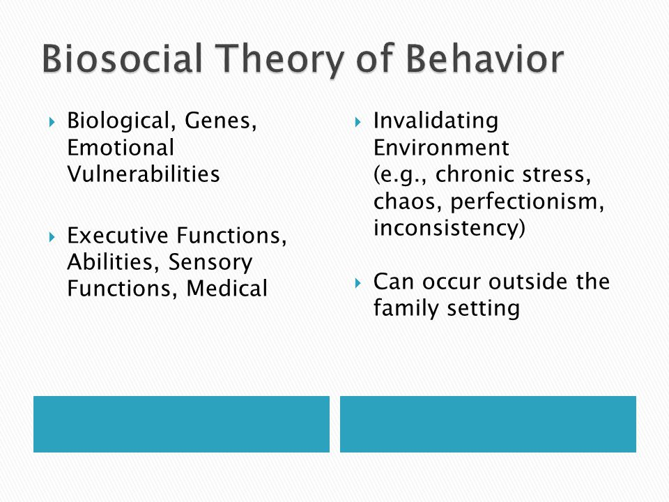 Biosocial Theory of Behavior