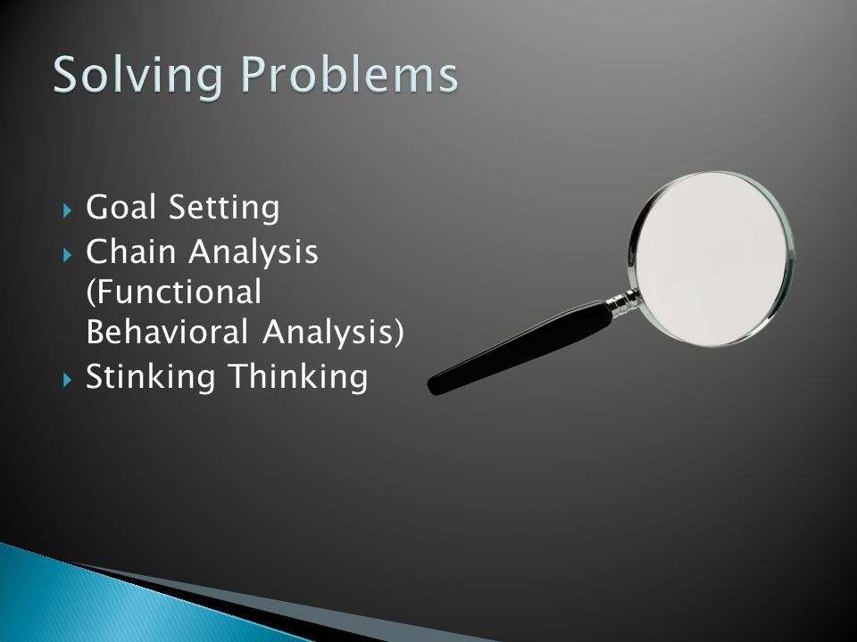Solving Problems Goal Setting