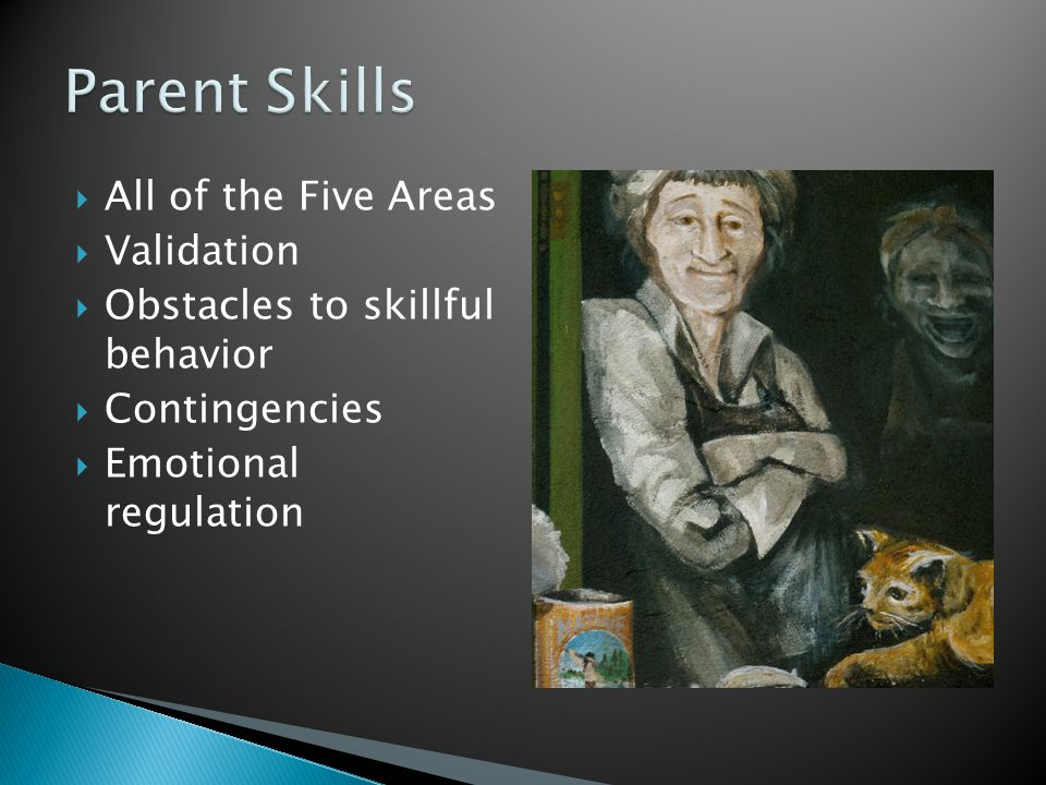 Parent Skills All of the Five Areas Validation