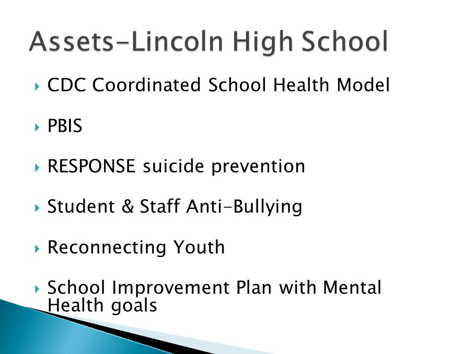 Assets-Lincoln High School