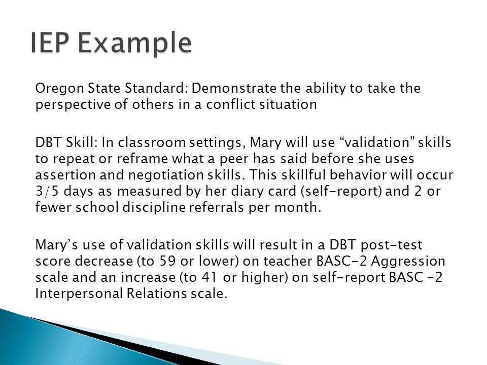 IEP Example