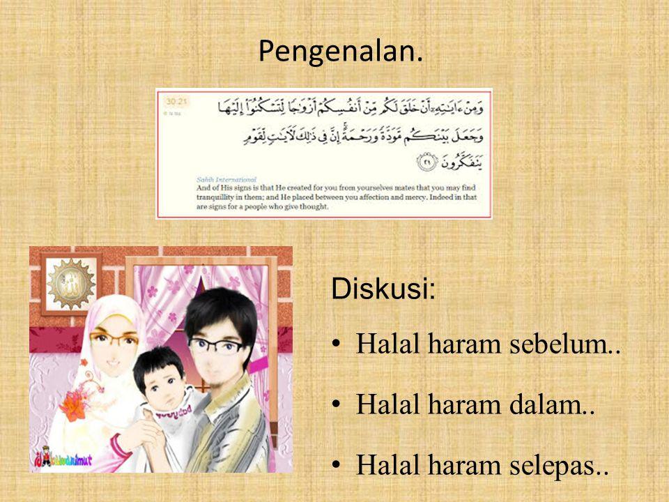 Pengenalan. Diskusi: Halal haram sebelum.. Halal haram dalam..