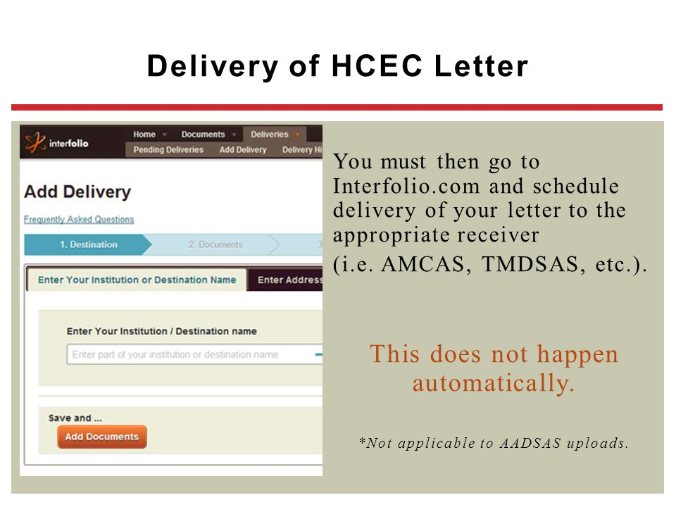 Delivery of HCEC Letter