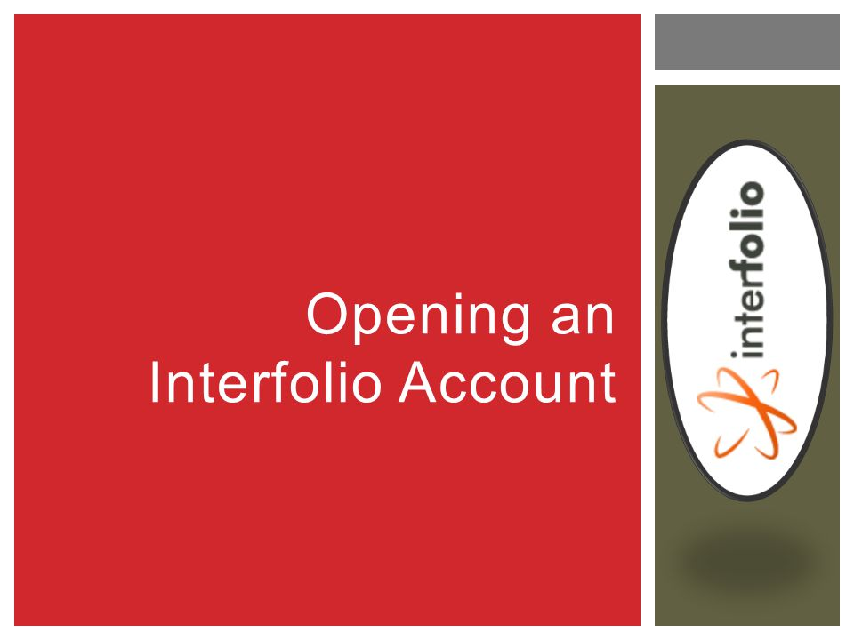 Opening an Interfolio Account