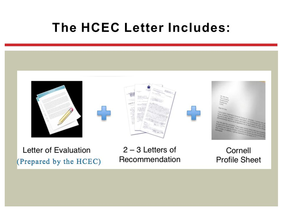 The HCEC Letter Includes: