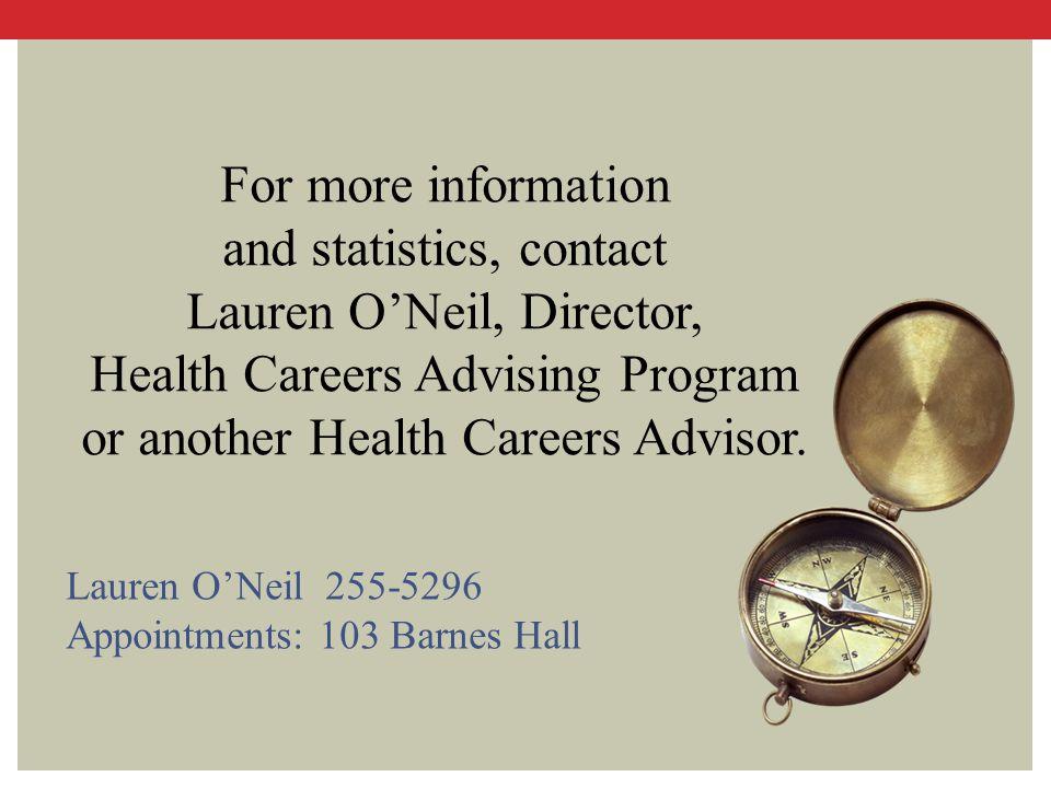 and statistics, contact Lauren O'Neil, Director,