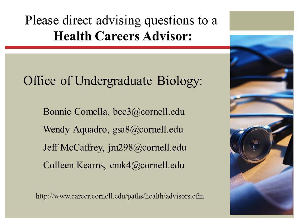 Health Careers Advisor: