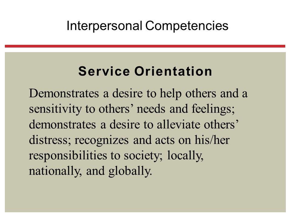 Interpersonal Competencies