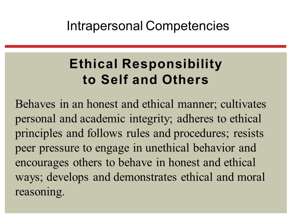 Ethical Responsibility to Self and Others