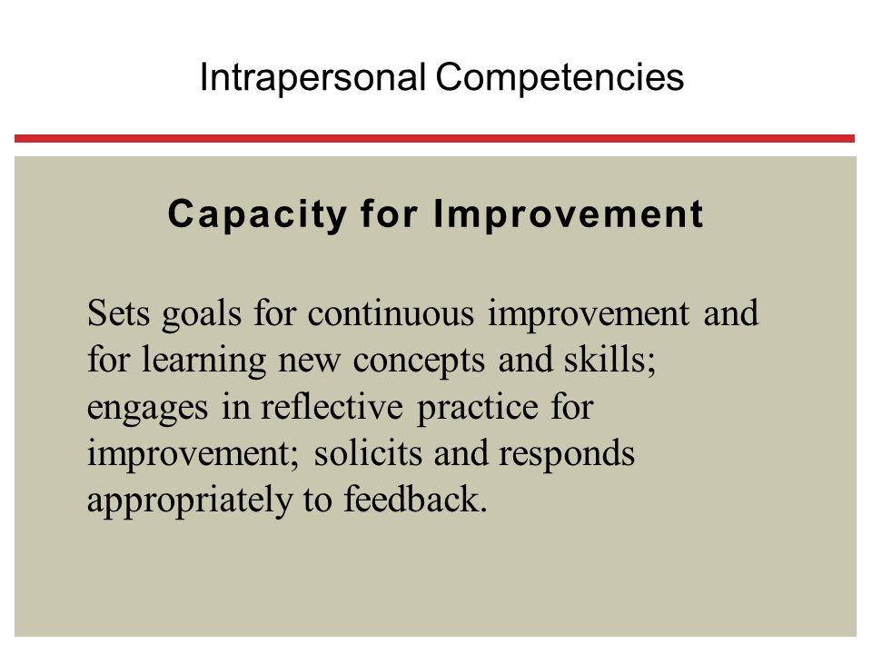Capacity for Improvement