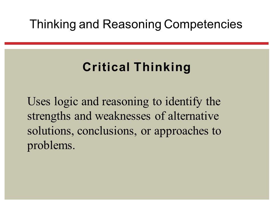 Thinking and Reasoning Competencies