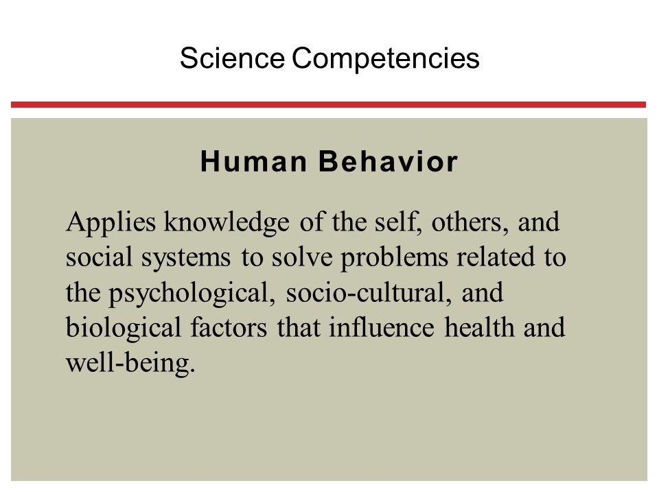 Science Competencies Human Behavior.