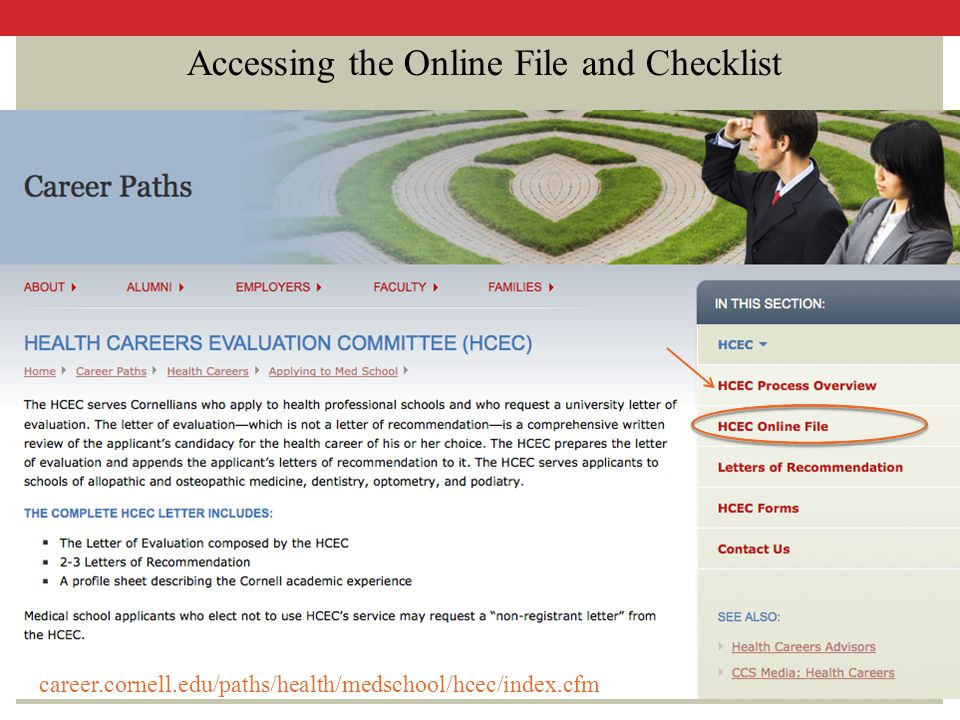 Accessing the Online File and Checklist