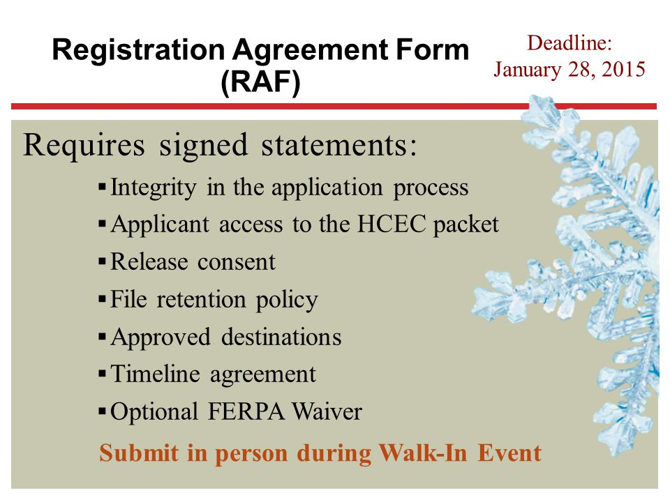 Requires signed statements: