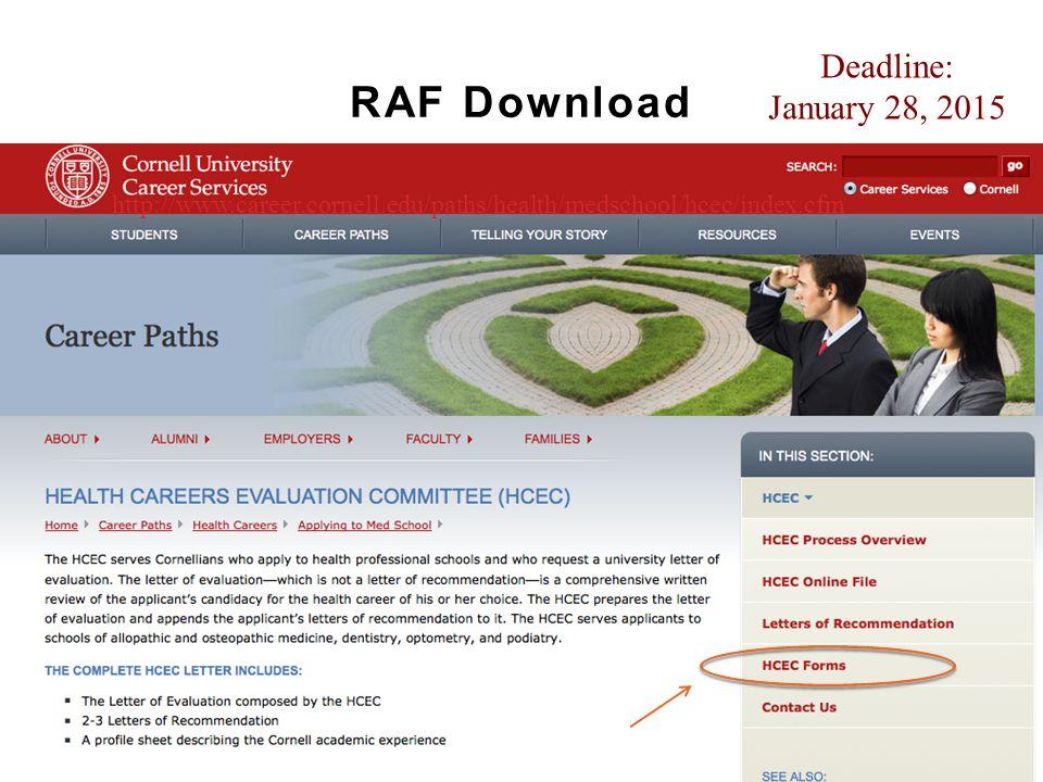 RAF Download Deadline: January 28, 2015
