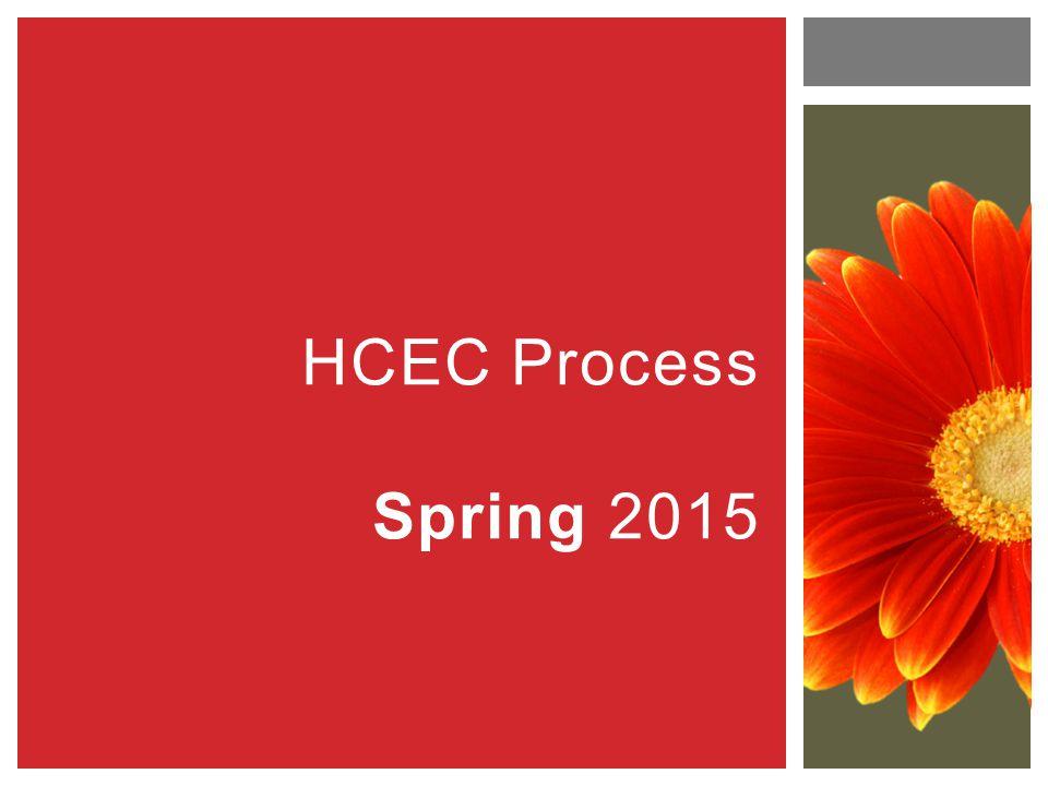 HCEC Process Spring 2015