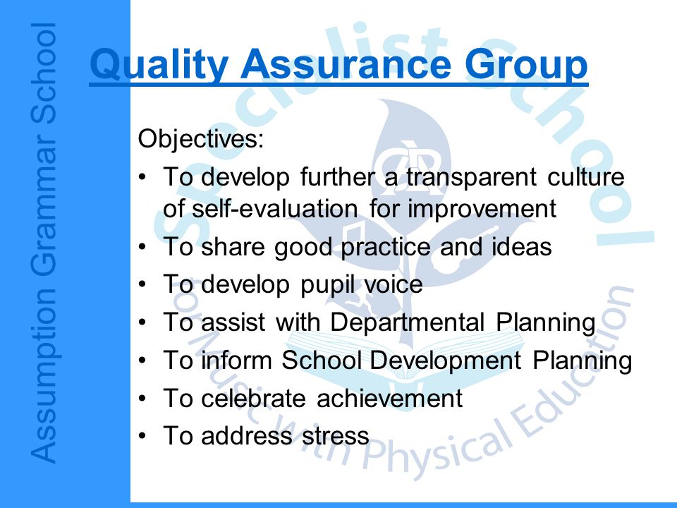 Quality Assurance Group