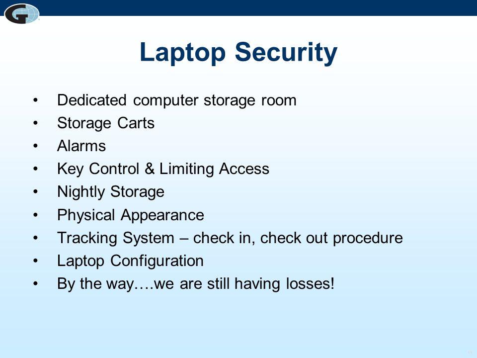 Laptop Security Dedicated computer storage room Storage Carts Alarms