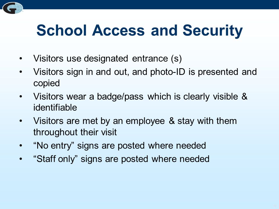School Access and Security
