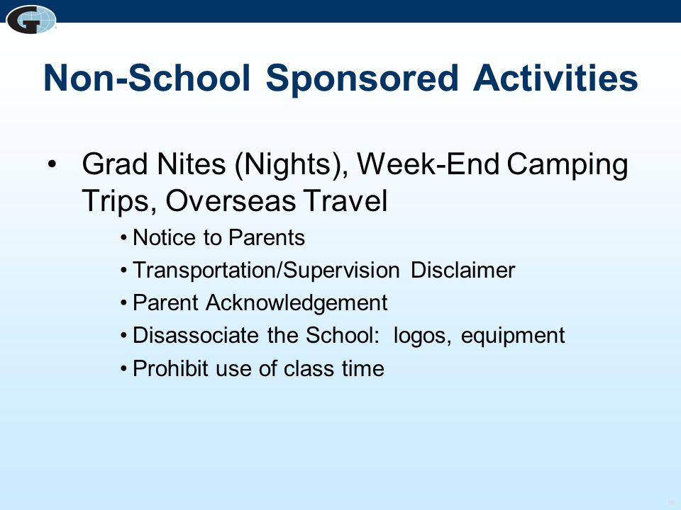 Non-School Sponsored Activities