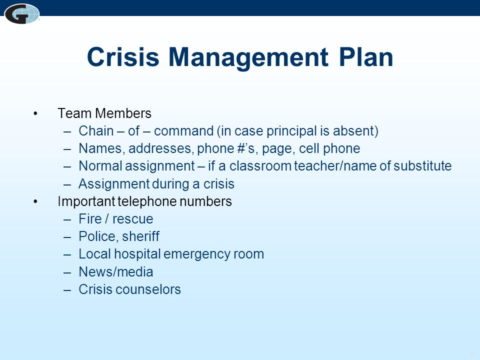how to develop a crisis management plan