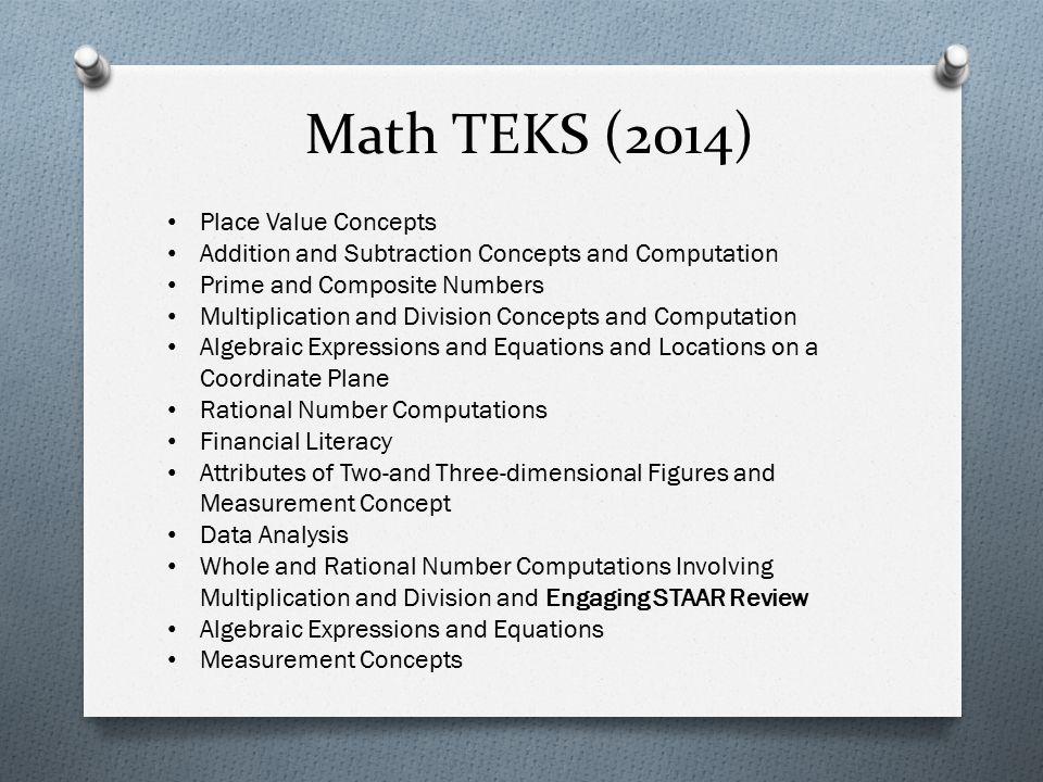 Math TEKS (2014) Place Value Concepts