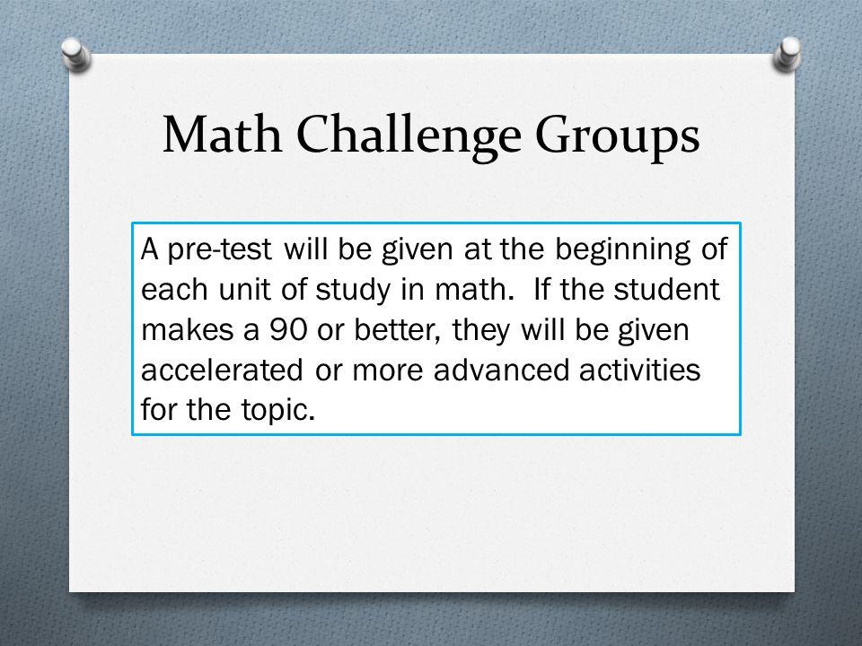 Math Challenge Groups