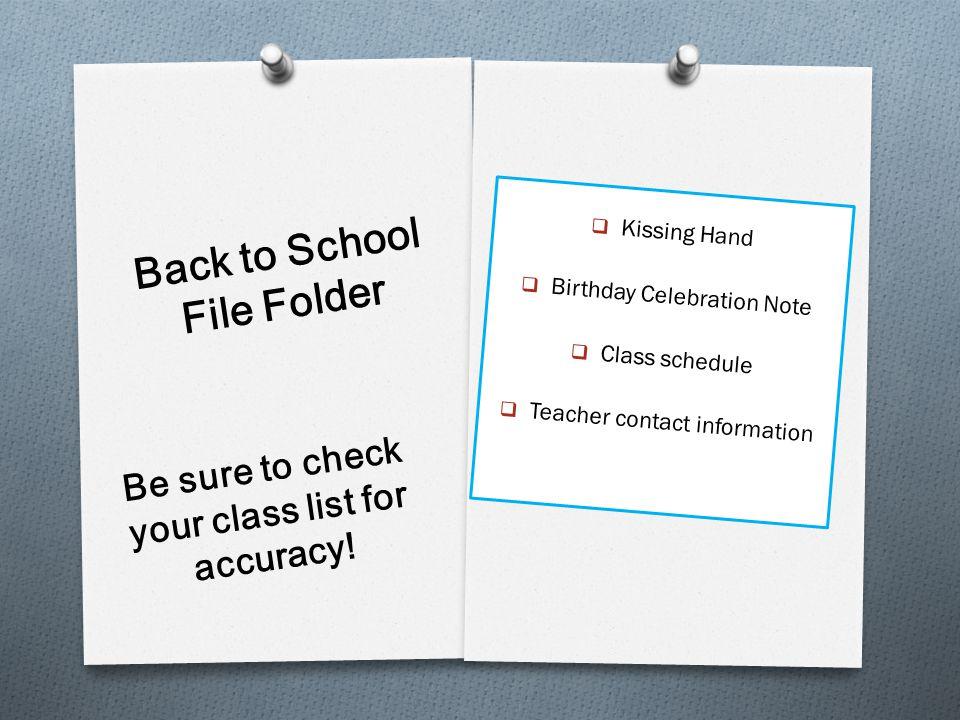 Back to School File Folder