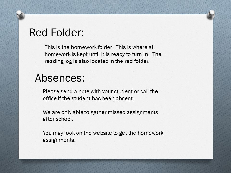 Red Folder: