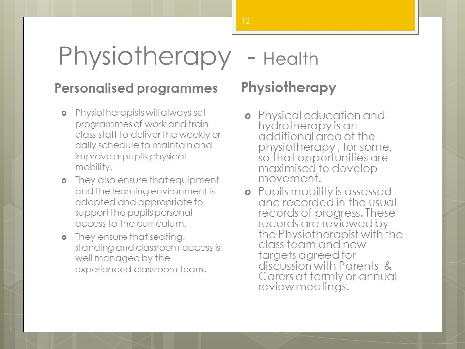 Physiotherapy - Health