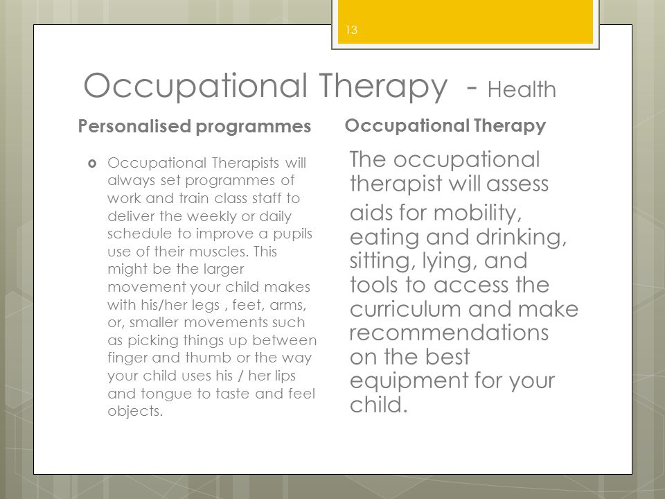 Occupational Therapy - Health