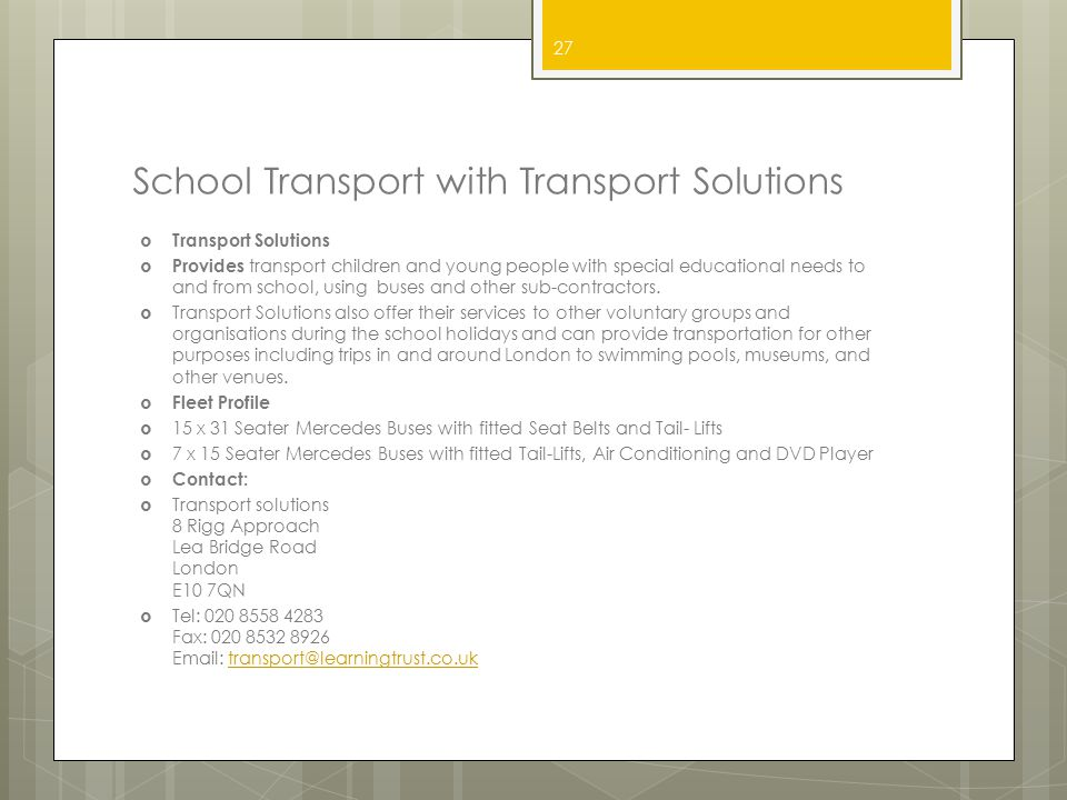 School Transport with Transport Solutions