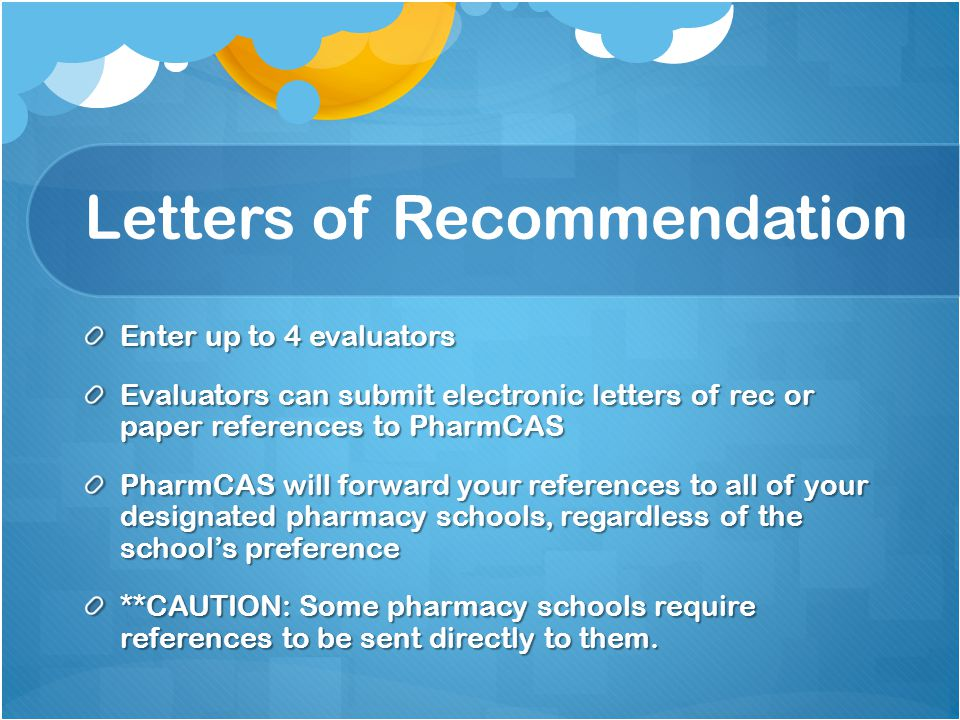 Pharmcas Letter Of Recommendation - All About Design Letter