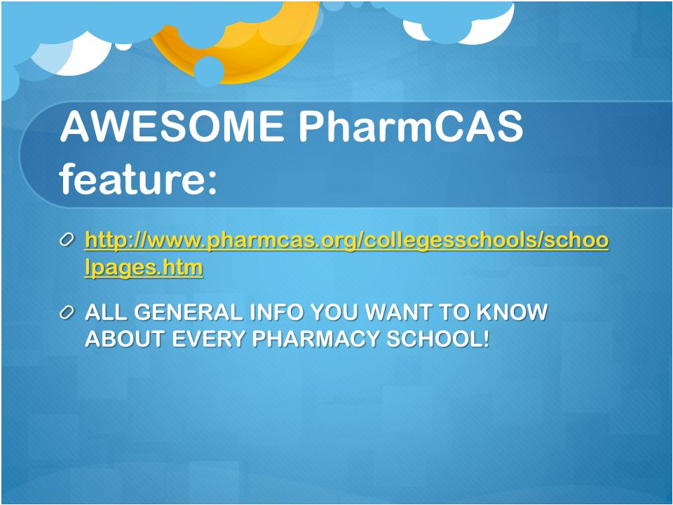 AWESOME PharmCAS feature:
