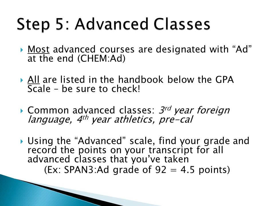 Step 5: Advanced Classes