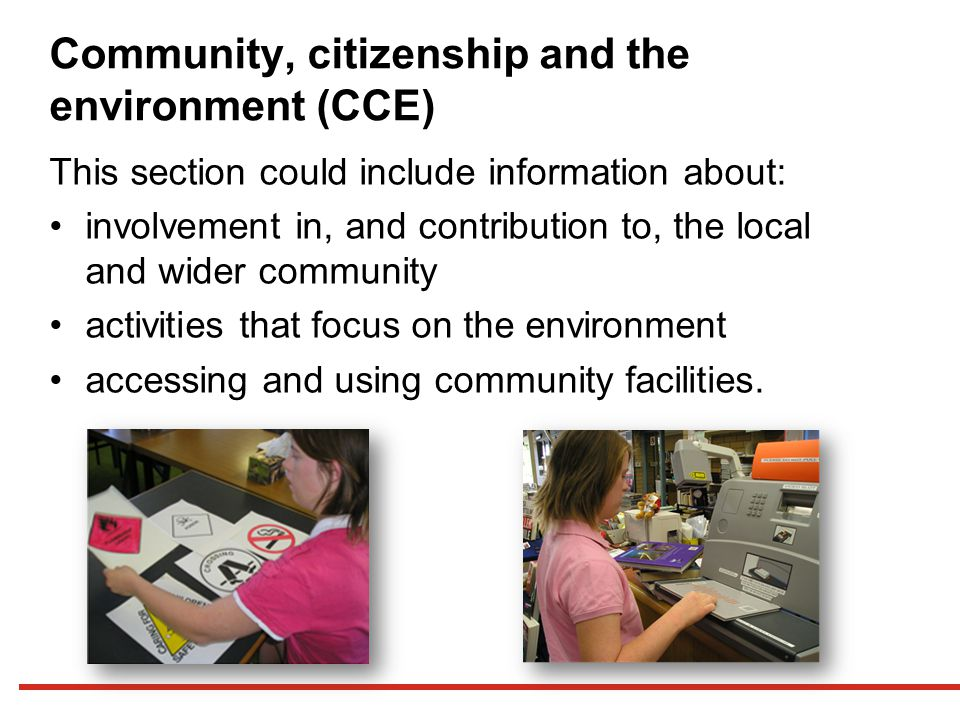 Community, citizenship and the environment (CCE)
