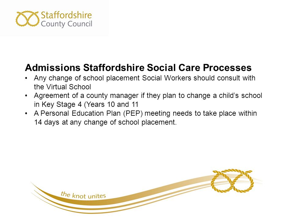 Admissions Staffordshire Social Care Processes
