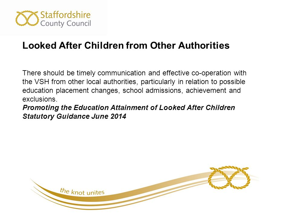 Looked After Children from Other Authorities
