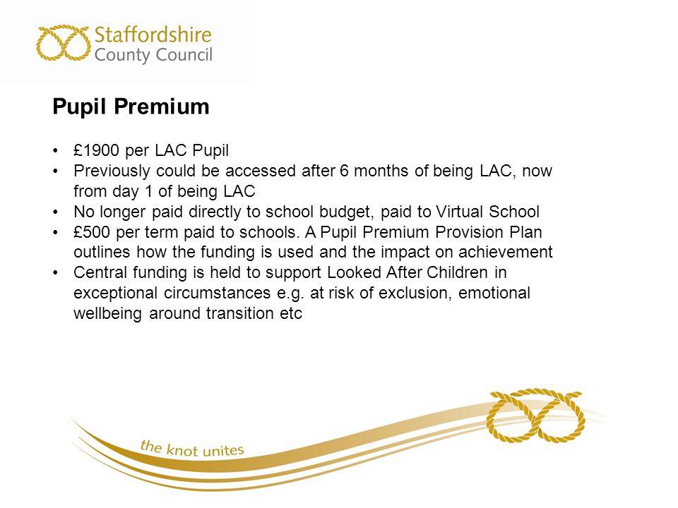 Pupil Premium £1900 per LAC Pupil