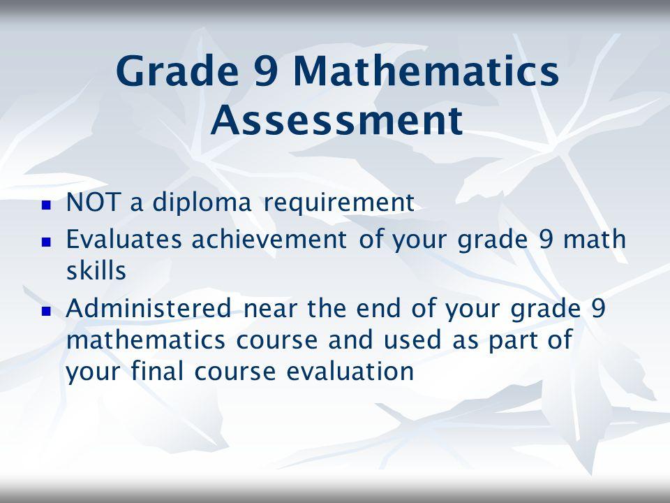 Grade 9 Mathematics Assessment