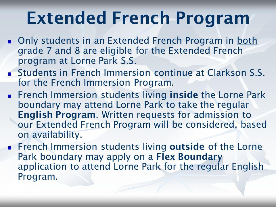 Extended French Program